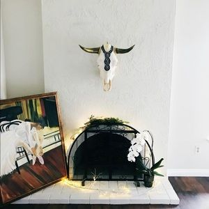 Art Deco wall hanging cow